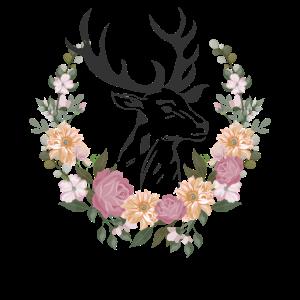 Hirschkopf Blumen