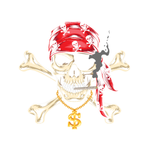 Piraten Kinder Kostüm Totenkopf Hip Hop Goldkette