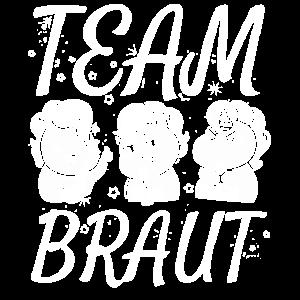 Junggesellin Junggesellinen Crew Team Braut