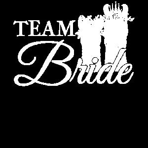Team Braut Bride Junggesellin Junggesellinen Crew
