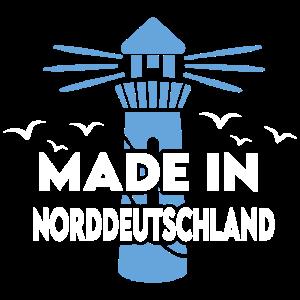 Made in Norddeutschland Leuchtturm Möwen