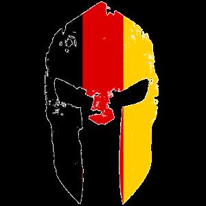 Sparta Gym Deutsche Flagge Helmet Spartan Germany