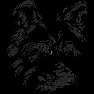 wolf portrait symbol face