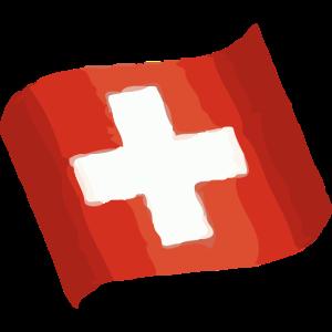CH - Schweizerflagge Mal-Effekt