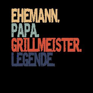 Ehemann Papa Grillmeister Legende