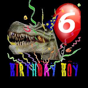6. Geburtstag Dino Geburtstags T-Shirt Geschenk