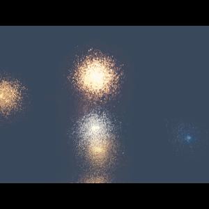 Lichter im Regen