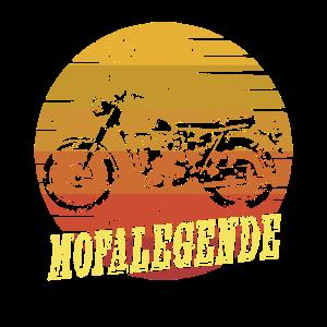 Herren Moped Legende Mofa Vintage Design Motorrad