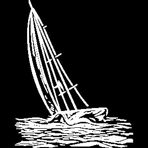 Segelboot am Wind