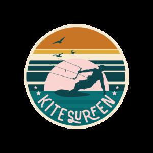 Kitesurfen Retro Vintage Surfer Surfen Geschenk