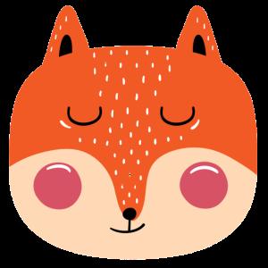 Fuchs Kinderdesign Maske