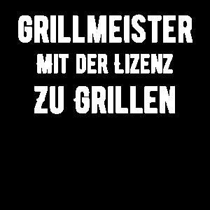 Grillmeister Mit Der Lizenz Zu Grillen