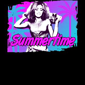 Skater Girl Summertime Neon