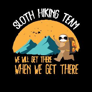 Faultier Sloth Hiking Team Wanderer Geschenke