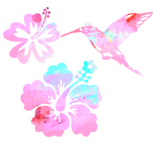 kolibri, aquarell, nature, pink, Illustration