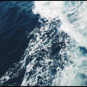 Blue Ocean Wellen Crashing Pattern Sea Summer Beach