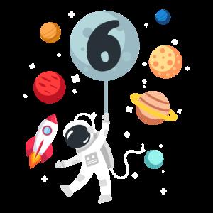 6 Geburtstag Art Kosmos Astronomie Space