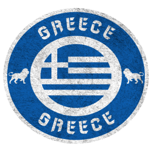 Griechenland Vintage Kreis / Geschenkidee