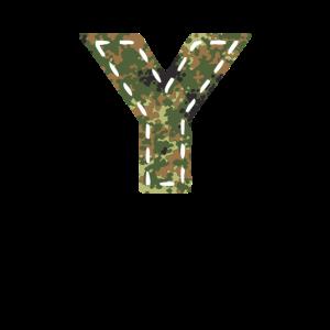 Y Buchstabe camouflage tarnfleck Bundeswehr genäht