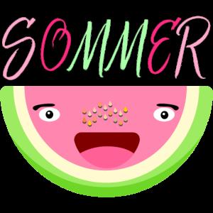 Sommer Wassermelone Sommersprossen FRUCHT CARTOON