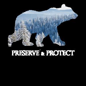 Preserve & Protect Klima Umweltschutz Wildlife Bär
