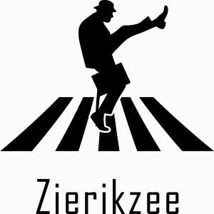 Silly walk zebrapad verkeersbord Zierikzee Zeeland