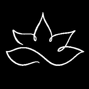 Lotus eine Linie in weiß