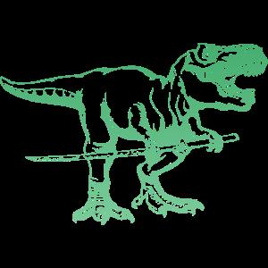 Samurai T Rex - Cooler Dino mit Samurai Schwert