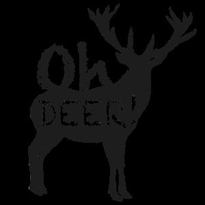 Oh deer ! - Hirsch Motiv - dark
