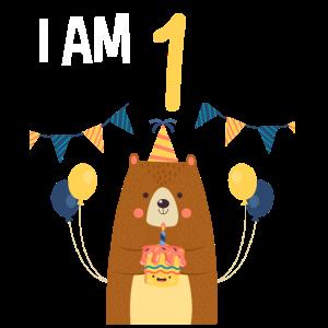 1. Geburtstag Geburtstagsshirt Bär 1 Jahr