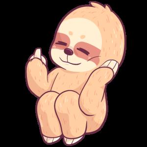 Fuck You Sloth Tier Faultier lustig