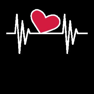 Herz Symbol Herzschlag Linie Ornament Puls