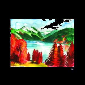 See in Berglandschaft