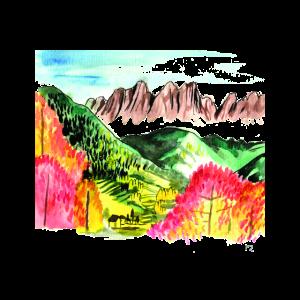 Berglandschaft mit Farbenkontrast