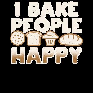 I bake people happy Pastries Kitchen
