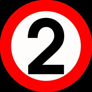 Zwei Warnschild