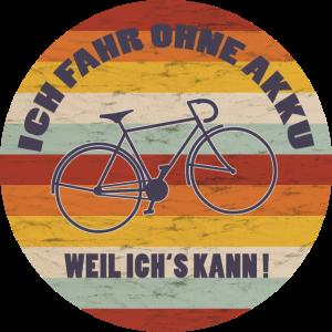 Retro Fahrrad Rad Fahren Ohne Akku Fun Geschenk