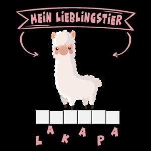 Alpaka - Mein Lieblingstier süßes Kinder T-Shirt
