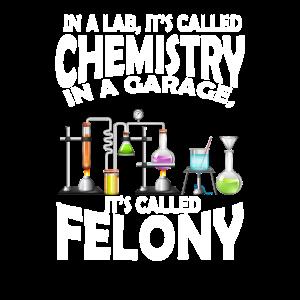 Chemie im Labor in der Garage Verbrechen