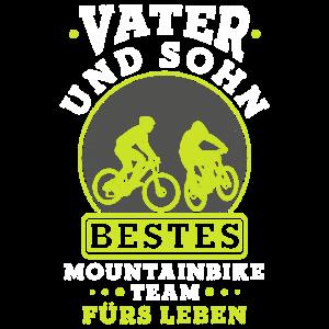 Vater und Sohn bestes Mountainbike Team fürs Leben