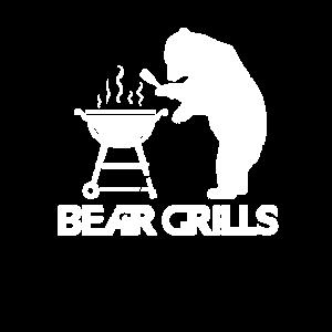 Bear Grills BBQ Grillen lustiges Grillmeister Koch