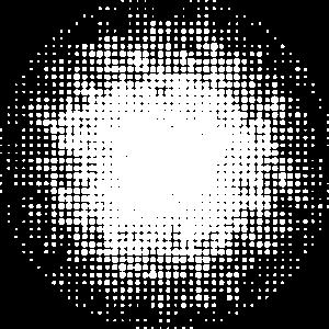gepunkteter runder Hintergrund weiss