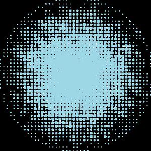 gepunkteter runder Hintergrund hellblau