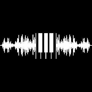 Sound Wave Piano Klavier Tasten