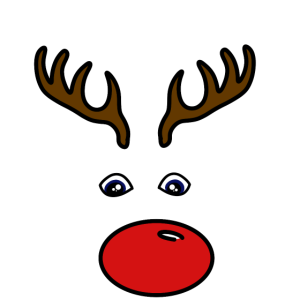 Rentier Gesicht Weihnachten Geschenk