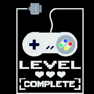 Super NES Controller Level Completed Gaming Design