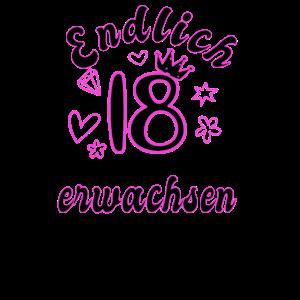 18 Geburtstag Mädchen Frau 18 Geschenk 18 Jahre