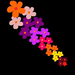 bunte Blumen Blumenranke Blume bunt