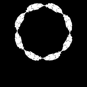 Umrandung Kreis Rahmen Feder Federn Gestalten