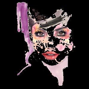 Aquarell Frauengesicht - Aquarell weibliches Gesicht